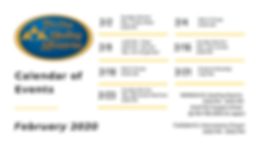Calendar of Events | Tri-Une (Feb. 2020)