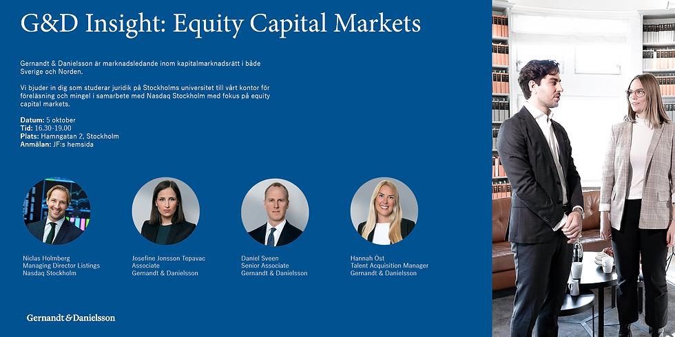 G&D - equity capital markets