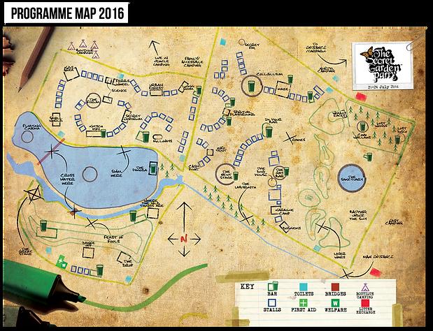 programme map 2016 secret garden party