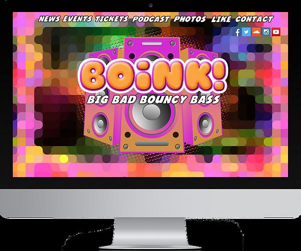 funky website design boink