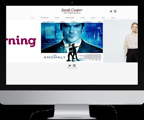 website design sarah cooper make up