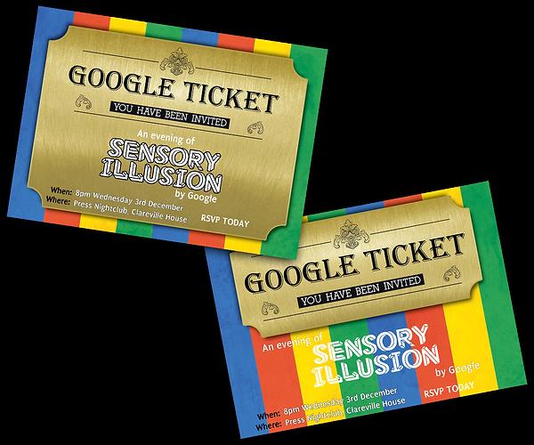 google invitation print design