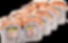 Запеченные роллы с лососем и крабом