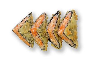 Сендвич ролл с лососем