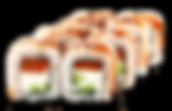 Роллы филадельфия с угрем и лососем