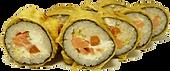 Горячие роллы гурме с копченым лососем