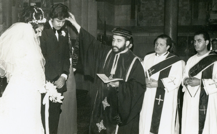 Fr Victor Rophael - first wedding in mel