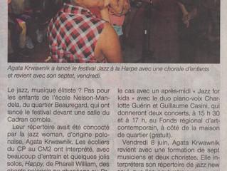 Agata Krwawnik à lancé le festival Jazz à la Harpe...