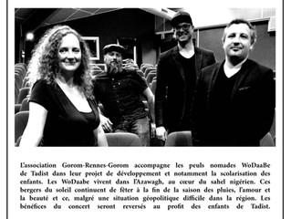 Concert de solidarité pour les jeunes peuls nomades Wodaabes: Agata Krwawnik Quartet