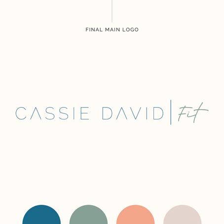 Brand Identity Design | Cassie David Fit