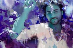 Zach in blue