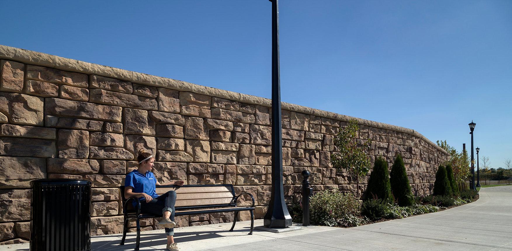 Suscon Block Retaining Wall