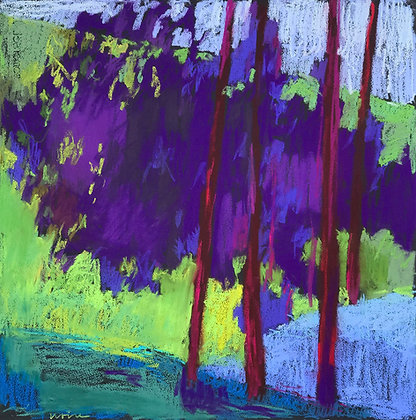 "Marshall Noice | Four Ponderosa | Pastel on Paper | 22x22"" | 2,500."