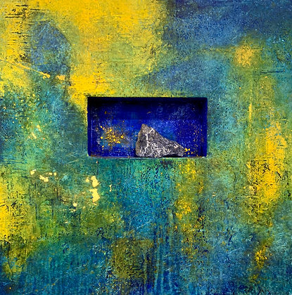 "Rain Spell | Mixed Media on Cradled Niche Panel | 20x20"""