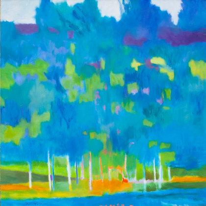 "Marshall Noice | Evening Blush | Oil on Canvas | 48x48"" | 9,300."