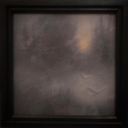 "Rachel Warner | Peregrine Pines | Oil on Canvas | 12x12"""