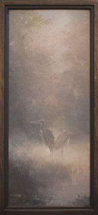 "Rachel Warner |Springtime in Cottonwoods | Oil on Canvas |29x12"""