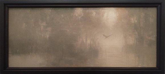"Rachel Warner   Evensong   Oil on Canvas   12x29"""