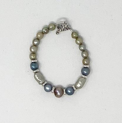 "Rachel Dragon   Pearl Bracelet   6.5"""