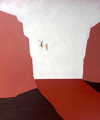 "Sam Walker | Fearless | Acrylic on Wood | 48x40"""