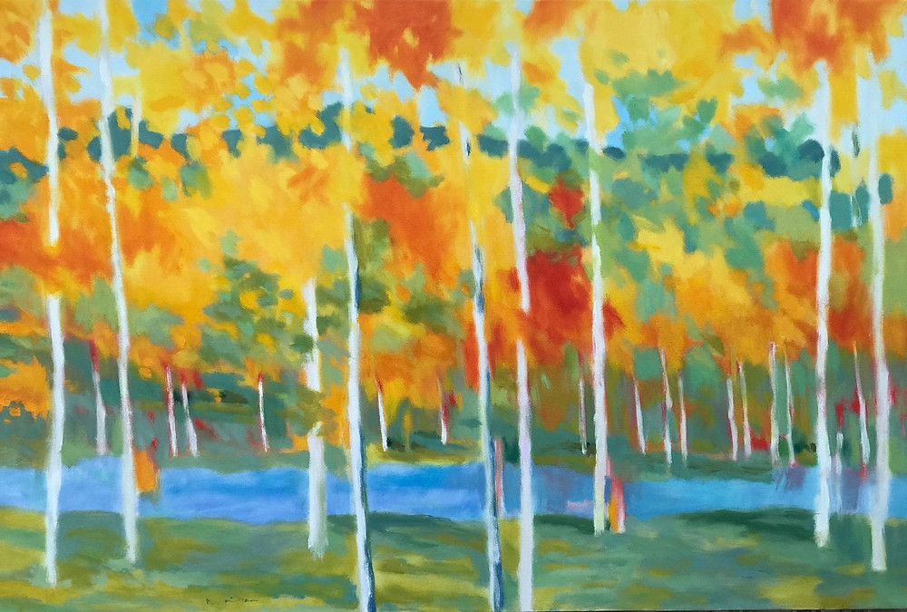 lanscape painting, trees