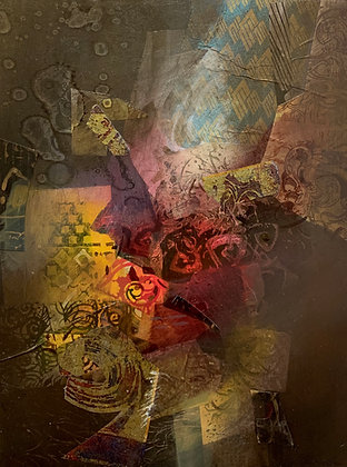 "Pat Lambrecht-Hould | Focus | Acrylic, Mixed Media on Wood | 16x12"""