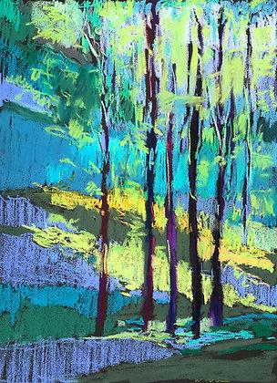 "Marshall Noice | Spring Hillside | Pastel on Paper | 30x22"" | 3,200."