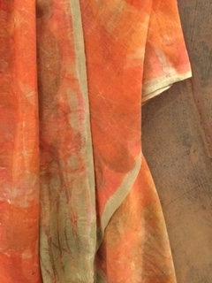 "Juliane Ketcher | Persimmon Whisper Weight Wool Scarf | 92x22"""