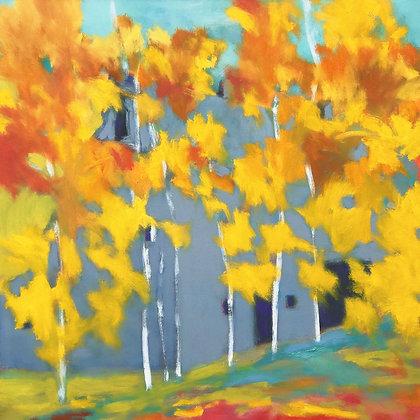 "Marshall Noice | East of Creston | Oil on Canvas | 36x36"" | 6,300."