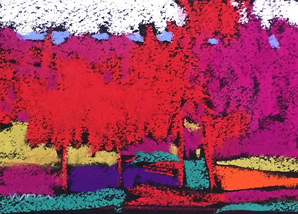 "Marshall Noice | Blue Ridge | Pastel on Paper | 5.75x7.75"" framed size"