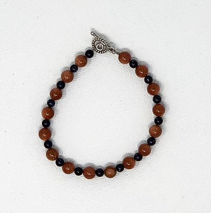 "Rachel Dragon   Sunstone Bracelet   7"""