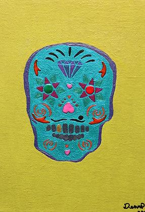 "Dennis Buzzard | Flowering Diamond | Multi Media on Canvas | 10x8"""