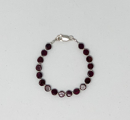 """Rachel Dragon   Garnet Bracelet   6.75"""""""