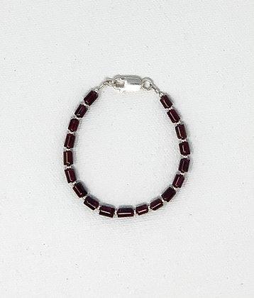"""Rachel Dragon   Garnet Bracelet   6.25"""""""