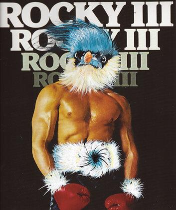 "Pamela Beer | Rocky Bird | Acrylic, Altered Photograph, Resin | 9.5x8.5x2"""