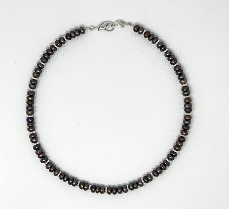 "Rachel Dragon | Pearl Necklace, Small Leaf Clasp | 20"""