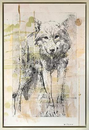#1096 (2/2) | Ink, Metal Leaf, Watercolor on Paper