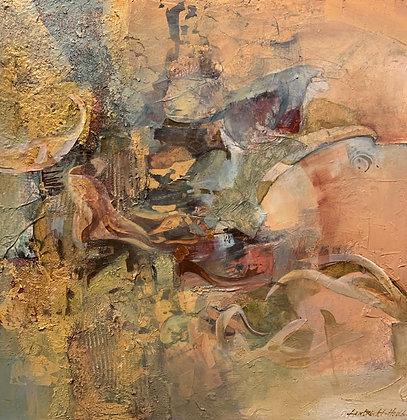 """Pat Lambrecht-Hould   Entanglement   Acrylic, Mixed Media on Canvas   30x30"""""""