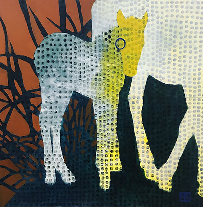 "Sarsten Noice   Fresh Eye   Acrylic on Canvas   48x48"""