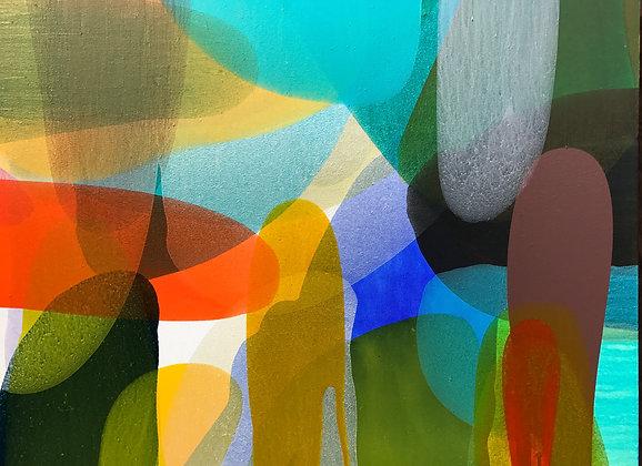 "Ron Scharfe   Play Among the Reeds   Acrylic on Canvas   30x40"""