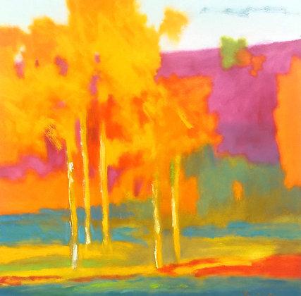 "Marshall Noice | Last Green of Summer | Oil on Canvas | 36x36"" | 6,300."