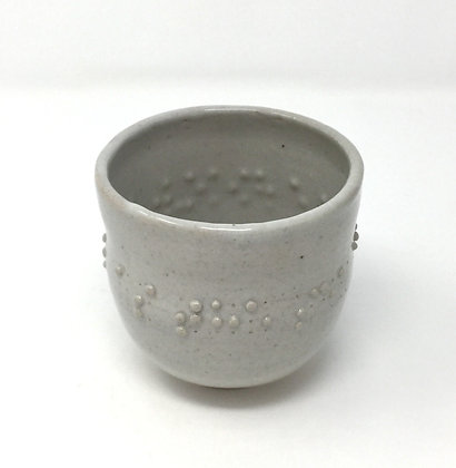 "Tea Bowl with Braille | ""As the sea calls..."" 