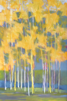 """Marshall Noice   Through Trees, Across Water   Oil on Canvas   36x24""""   4,300."""