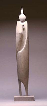 "Manel A'lvarez | Native Femininity | Bardiglio Marble, Iron | 37x8x5.5"""