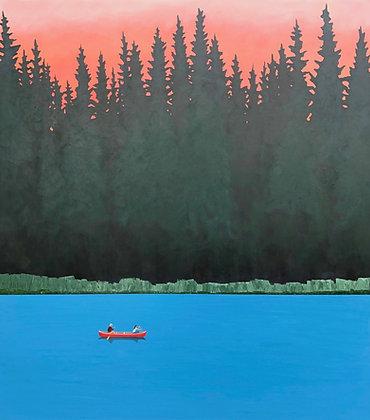 "Sam Walker | Evening Row | Acrylic on Wood | 40x36"""