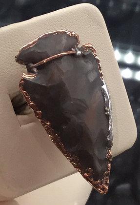 Chelsea Martini | Peyote Ring | Jasper Arrowhead, Copper, Silver