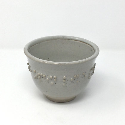 "Tea Bowl with Braille | ""My eyes are open like..."" 