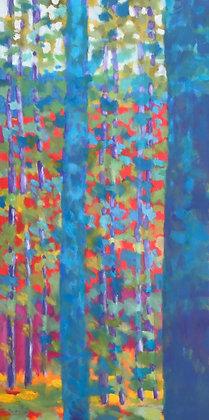 "Marshall Noice | Nine Pines | Oil on Canvas | 60x30"""