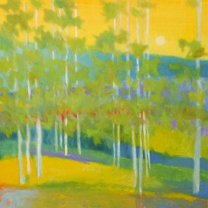 "Marshall Noice | Blue Ridge Moonrise | Oil on Canvas | 48x48"" | 9,300."