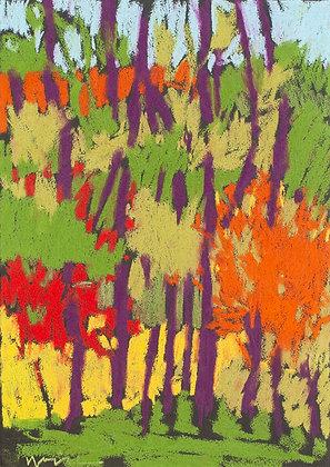 "Marshall Noice | Dogwood, Garcia Street | Pastel on Paper | 15x11"" | 1,350."